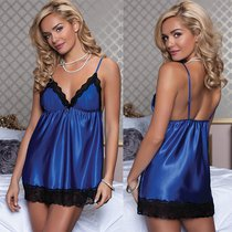 Бэби-долл Marilu, с трусиками, цвет синий, L - Seven`til Midnight