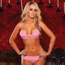 Комплект Sweet Kiss: лиф и трусики, цвет розовый, S-L - Hustler Lingerie