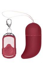 Красное виброяйцо Small Wireless Vibrating G-Spot Egg, цвет красный - Shots Media