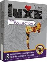 Цветные презервативы LUXE Rich collection - 3 шт. - LUXLITE
