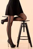 Изящные колготки Villi с мозаичным узором, цвет черный, 2 - Livia Corsetti