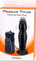 Анальный вибромассажер-пульсатор на присоске Pleasure Thrust, цвет черный - Seven Creations