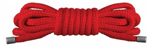 Красная нейлоновая верёвка для бандажа Japanese Mini - 1,5 м., цвет красный - Shots Media