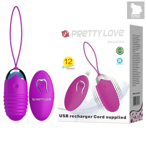 Лиловое ребристое виброяичко с пультом ДУ Jessica, цвет фиолетовый - Baile