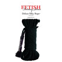 Веревка для бондажа Fetish Fantasy Series Deluxe Silky Rope, цвет черный - Pipedream