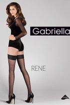 Фантазийные чулки Rene с гладкой резинкой, цвет черный, размер 3-4 - Gabriella