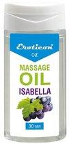 Массажное масло Isabella с ароматом винограда «Изабелла» - 30 мл. - Eroticon