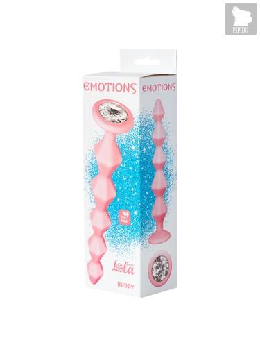 Анальная Цепочка с Кристаллом Emotions Buddy Pink 1400-01lola, цвет розовый - Lola Toys