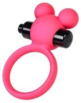 Розовое виброкольцо на пенис A-Toys, цвет розовый - Toyfa