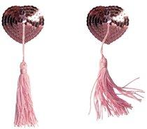 Розовые пэстисы-сердечки Gipsy с кисточками, цвет розовый - Lola Lingerie