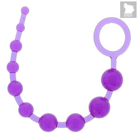 Фиолетовая анальная цепочка PLEASURE BEADS ANAL ROD - 32 см., цвет фиолетовый - Dream toys