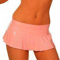 Блестящая юбочка с вишней на молнии, цвет розовый, L - Hustler Lingerie