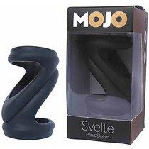 Черная силиконовая насадка-эректор Mojo Svelte, цвет черный - Seven Creations