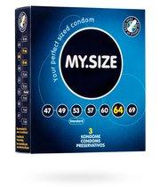 Презервативы My Size размер 47, 3 шт. - VITALIS