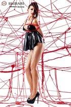 Беби-долл Tsuki с открытой спиной и верёвками для связывания, цвет красный/черный, размер M - Demoniq
