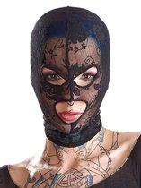 Кружевная маска-балаклава с отверстиями для глаз и рта, цвет черный - ORION