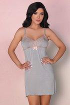 Ночная сорочка Tilda с вышивкой на груди, цвет серый, размер S-M - Livia Corsetti