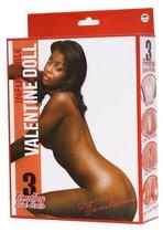 Надувная темнокожая кукла INFLATABLE SCARLET CONSTANCE, цвет коричневый - Nanma (NMC)