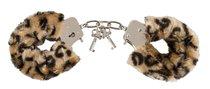 Леопардовые меховые наручники Love Cuffs Leo - ORION