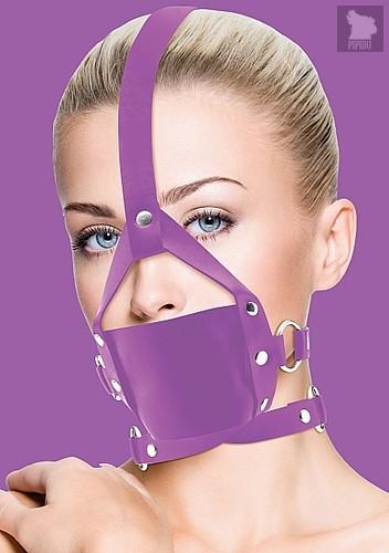 Кляп Leather Mouth Purple OUCH! SH-OU148PUR, цвет пурпурный - Shots Media
