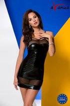 Соблазнительная сорочка Muriel из wet-look материала, цвет черный, 2XL-3XL - Avanua