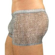 Серые тонкие мужские трусы-хипсы, цвет серый, S - Romeo Rossi