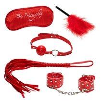 Эротический набор БДСМ из 5 предметов в красном цвете, цвет красный - МиФ