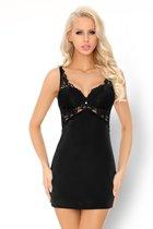 Коротенькая соблазнительная сорочка Dolorsan, цвет черный, S-M - Livia Corsetti