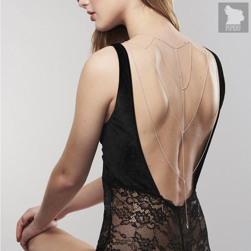 Bijoux Indiscrets Бикини-цепочка Magnifique Back and Cleavage Chain серебряные - Bijoux Indiscrets