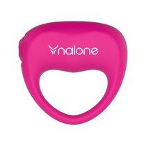 Розовое виброкольцо Ping, цвет розовый - Nalone