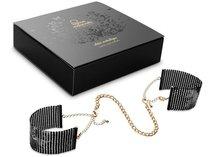 Чёрные дизайнерские наручники Desir Metallique Handcuffs Bijoux, цвет черный - Bijoux