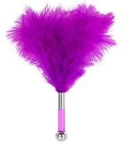 Фиолетовая метелка-пуховка с круглым наконечником FEATHER TICKLER - 24 см., цвет фиолетовый - Blush Novelties