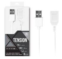 Белый удлинитель USB-провода - 100 см., цвет белый - Nanma (NMC)