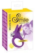 Фиолетовое эрекционное кольцо с вибрацией Smile Rabbit - ORION
