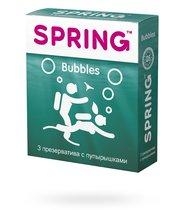Презервативы Spring Bubbles с пупырышками, 3 шт. - Spring