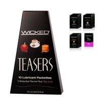 Набор вкусовых лубрикантов Wicked Teasers - 10 шт. по 3 мл. - Wicked