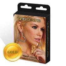 Серьги-сердца Heart Attack Earrings из кристаллов, цвет золотой - Ann Devine