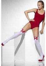 Чулки медсестрички белые с красным - Le Frivole