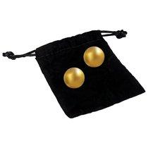 Вагинальные шарики 24К GOLD PLATED PLEASURE BALLS с золотым покрытием, цвет золотой - CG