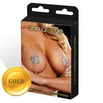 Яркие блестящие золотистые пэстисы с кисточками Tassel Pasties, цвет золотой - Ann Devine
