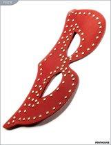 Маска с заклёпками, красная, P3027R, цвет красный - Penthouse
