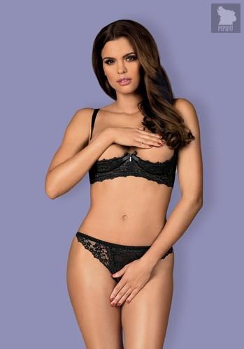 Пикантный комплект женского белья Letica, цвет черный, L-XL - Obsessive