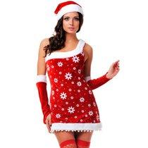 "Новогодний костюм ""Снегурочка"", цвет красный, M-L - Le Frivole"