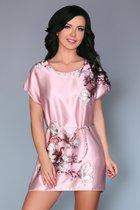 Нежно-розовая сорочка Amalia с цветочным рисунком, цвет светло-розовый, размер S-L - Livia Corsetti