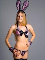 Костюм для ролевой игры Pretty Bunny, цвет розовый/черный, 42-44 - FlirtON