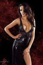 Длинное платье с глубоким декольте и вырезом на спине Jacqueline, цвет черный, размер S - Demoniq