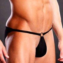 Сексуальные мужские pouch-бикини, цвет черный, S-M - Blue Line