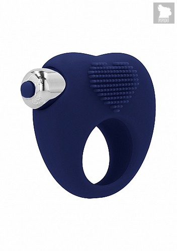 Вибрирующее кольцо Aubin10 Speed Navy Blue SH-SIM047BLU - HOT