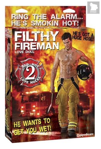 Надувная кукла мужчина Filthy Fireman Love Doll, цвет телесный - Pipedream