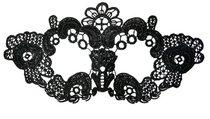 Нитяная маска с цветами, цвет черный - Toyfa
